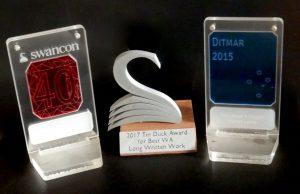 Ditmar Award 2015 and Tin Duck Award 2017.